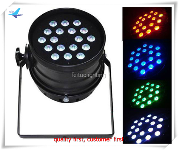 6 grup Led par 18x10 w rgbw 4in1 uzun LED Par 64 Can