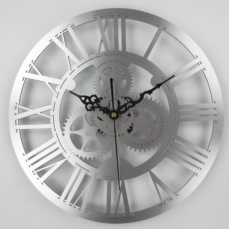 European antique gear wall clock vintage mechanical gear clock Large Gear Wall Clock For Art Home Living Room Wall Decoration