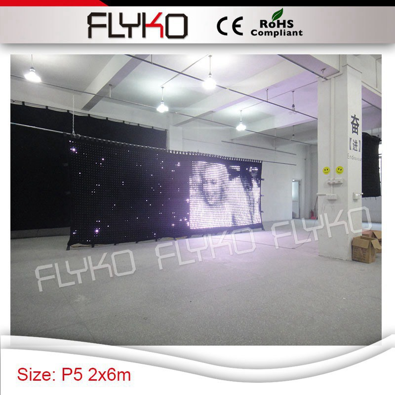 Free shipping full color tv show video cloth P50mm video curtain 7ft * 20ft with flight case