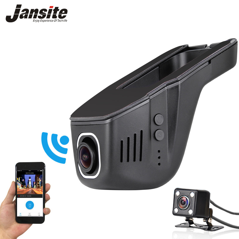 2018 Yeni Araba Dvr Mini Wifi Araba Kamera Full HD 1080 P Dash cam Registrator Video Kaydedici Kamera Çift Lens Dvr App Kontrolü