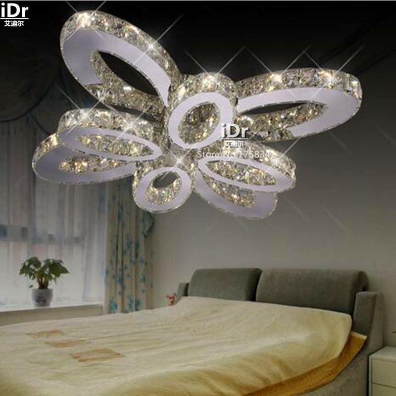 Modern minimalist living room lamp crystal lamp creative bedroom home LED lights Ceiling Lights wwy-0237