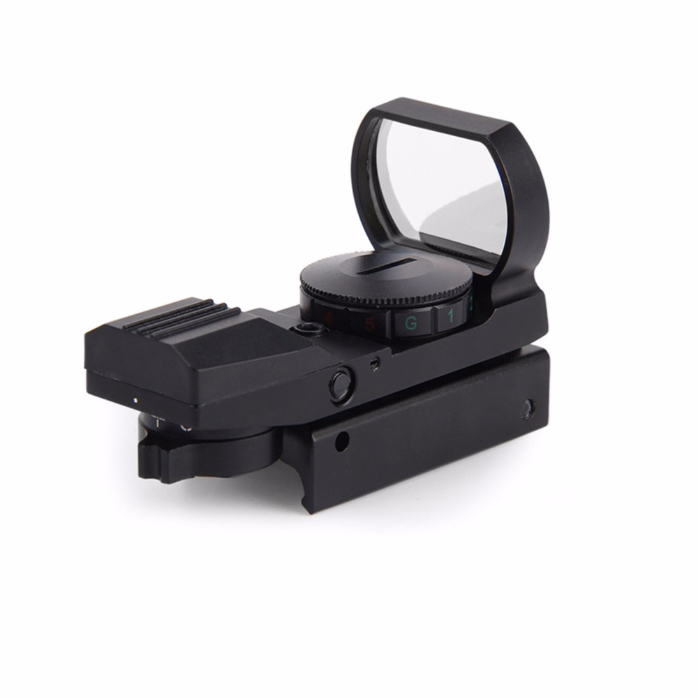 Açık 11mm/20mm Ray Riflescope Avcılık Airsoft Optik Kapsam Holografik Red Dot Sight Refleks 4 Reticle Taktik Gun Malzemeleri