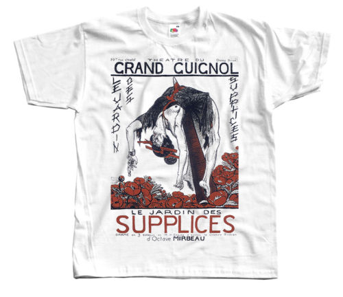 GRAND GUIGNOL Supplices, Le Jardin Des, tiyatrosu ver. 1 T-Shirt (Beyaz) S-5XL