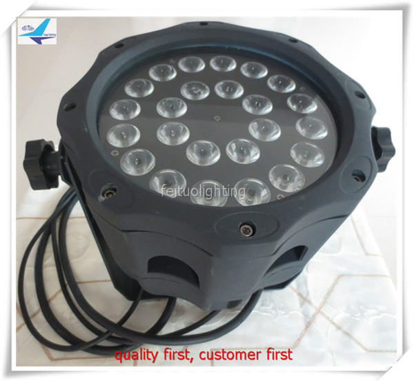 (12/lot) led par 64 dmx 24x10 w 4 in 1 quad-renk led par can led ip 65 sahne par