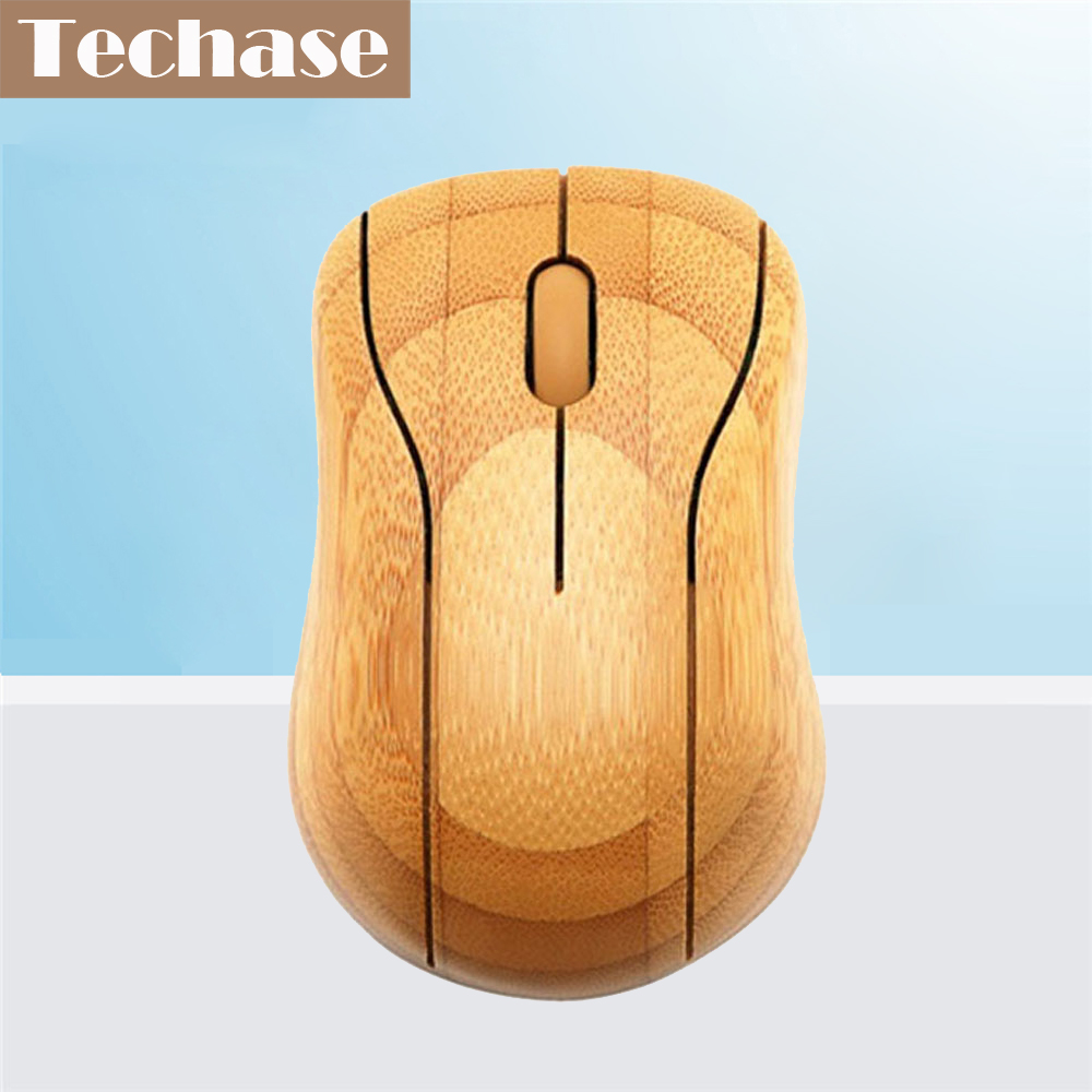 Techase Kablosuz Mouse Raton MG95 Inalámbrico Bambu 2.4 GHz USB Mause Souris Ordinateur Oyun Bilgisayar Fare Souris Sans fil